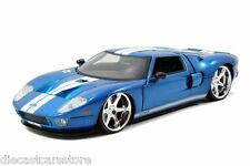 JADA FAST & FURIOUS 7 FORD GT BLUE 1/24 DIECAST NEW WITHOUT BOX 97307