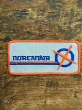 Vtg Norcanair Canada Sew On Embroidered Patch Plane Flying Canadian Airline Air