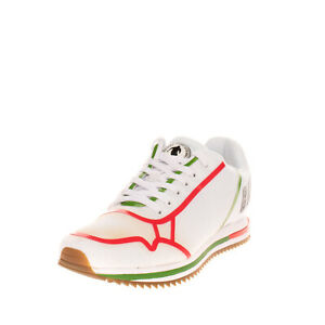 RRP€125 BIKKEMBERGS HIRAM Mesh Sneakers EU 41 UK 7 US 8 Glued Logo Serrated Sole