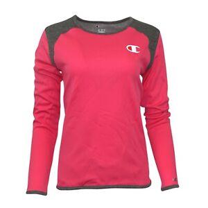 Champion Reverse Weave Women's (Wow Pink) Performance L/S Tech Crew Fleece