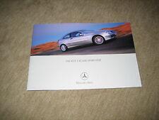 Mercedes C-Klasse Sportcoupe (CL203) Prospekt Brochure von 8/2000, 24 Seiten