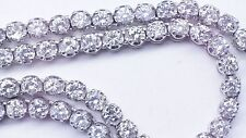 18 Ct Round White Diamonds 1 Row Solitaire Tennis Chain for Men in 10K WG ASAAR