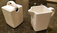 10 Strawberry Street White Sugar Bowl & Creamer Set - White