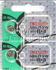 Maxell 364 SR621SW SR621 28034 LR621 AG1 Battery 0% MERCURY ( 2 PC )
