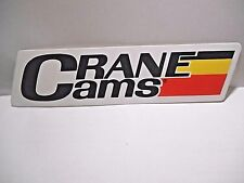 "*NEW* RETRO 1980'S CRANE CAMS HIGH PERFORMANCE DECAL STICKER  6-1/2"" X 1-5/8"""