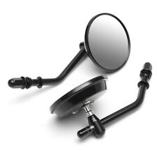 Black Classic Rear View Round Mirror For Harley Davidson Sportster Softail Road
