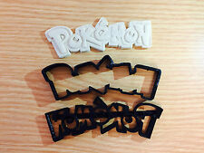 POKEMON LOGO Biscotto Cookie Cutter Stampo Fondente Decorazione Torte