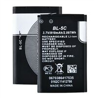 Cell Phone Battery for Nokia BL-5C 1650 1680 1681 1110i 1208 3100 3120 810mAh