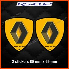 2 sticker decals RENAULT SPORT black and yellow Clio megane captur twingo 0051