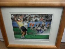 Dottie Pepper Autographed UDA SP Signature golf LPGA 8x10 photo framed w/COA