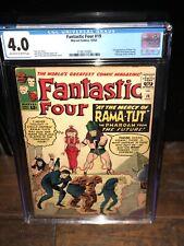 Fantastic Four 19 CGC 4.0 1st RAMA-TUT & X-men ad 3736170005 🔥 Kang Conqueror