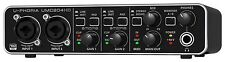 BEHRINGER UMC204HD INTERFACCIA AUDIO 2x4 MIDI/USB 24 BIT/192 KHZ - PREAMP. MIDAS