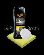Meguiars Ultimate Black Plastic Restorer & Applicator, Microfibre 355ml