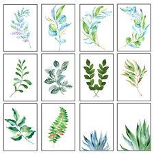 Green Leaf Art Prints Botanical Poster Picture Modern Wall Art Decor