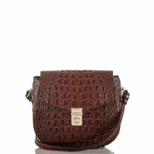 Brahmin Melbourne Lizzie Pecan Leather Small Crossbody Bag FACTORY SEALED