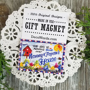 DecoWords Fridge Magnet Nanny PaPaw Cute Gift We Make EVERY Relative Just Ask Us