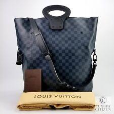 NEW AUTHENTIC LOUIS VUITTON NORTH SOUTH Fold Over Shoulder Bag Damier Cobalt 59b877c7df