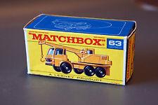Matchbox Lesney RW No 63C Dodge Crane Truck mit Originalbox