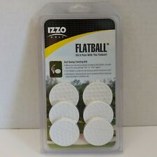 6 pack Izzo Golf Flatball Golf Swing Training Aid NEW/SEALED Indoor/Outdoor