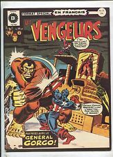THE AVENGERS #15 WHEN THE GENERAL COMMANDS (7.5) 1973 FRENCH COMIC* WIDE FORMAT