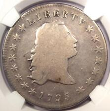 1795 Flowing Hair Silver Dollar ($1 Coin) - Certified NGC VG Detail - Rare Coin!