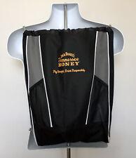Jack Daniels Tennessee Honey Whiskey Back Pack Cinch Drawstring Bag Black