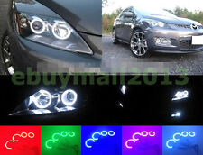 Muilt-Color LED RGB Halo Rings For MAZDA CX-7 Angel Eyes Devil Demon Corona DRL