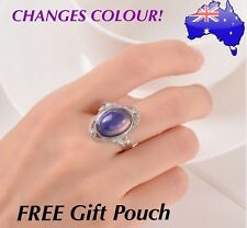 Retro Mood Ring Temperature Emotion Feeling Colour Changing Adjustable Rings NEW
