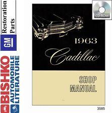 1963 Cadillac Deville Eldorado Service Shop Repair Manual CD Engine Drivetrain