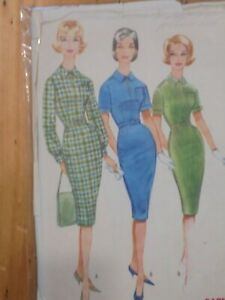 McCall's Vintage 1950's/60's dress pattern bust 36