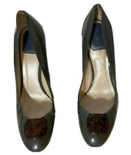 Christian Dior Lady Peep green Patent Leather Platform Pumps EU 41 US 11 GC