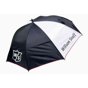 Wilson Staff Regenschirm schwarz weiß Sonnenschutz
