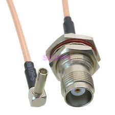 "cable TS9 male plug 90° RA to TNC female jack bulkhead crimp RG316 6"" pigtail"