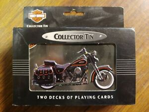 Harley Davidson Two Deck Playing Cards 1998 Collectible Tin