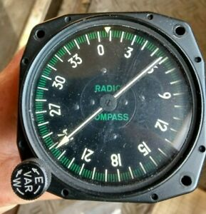 Radio compass ID91 - aircraft instrument / Bordinstrument Flugzeug