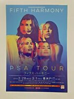 "FIFTH HARMONY Flyer/Handbill ""PSA Tour 2018"" Japan Double-Sided"