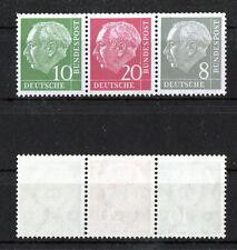 Bund Heuss Zusammendruck W 22 Y II postfrisch BRD Zd aus MH 4 Michel 85,00 € MNH
