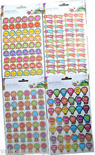 Four Sheets of Merit Stickers School Stickers Craft Stickers Total 186 Stickers