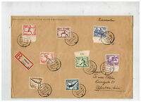 1936 Breslau Germany Stamp Dealer Oversize Cover to Offenbach Olympics Stamps