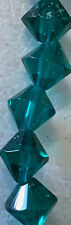 10mm Teal Blue Colored Bicone Crystal Beads 5 Strands 200 Beads