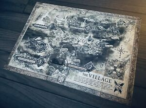 Capcom Resident Evil 8 Village Collector's Edition Cloth Map, Banner Poster NEW