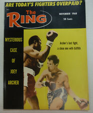 The Ring Boxing Magazine Joey Archer November 1968 043015R