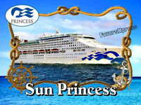 SUN PRINCESS Cruise Ship Photo MAGNET thin~flexible~glossy 4 X 3 inches