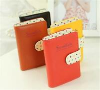 Women ID Credit Card Wallet Cash Holder Case Bag Pocket Pouch for 20 cards A`