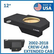 """Dodge Ram Quad cab 2002-2018 12"""" Single sub box Subwoofer Enclosure"""