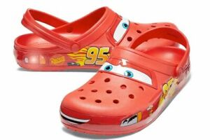 Limited Edition Disney Pixar Lightning McQueen Light Up Crocs Adult Size Mens 7