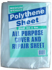 Hoja de polietileno Láminas Polvo de peso mediano cubierta de la lluvia 3m X 4m,55 Mu, 9.8 X 13 pies