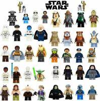 Star Wars Minifigures Darth Vader Yoda Mandalorian Clone Boba Fett Luke Anakin