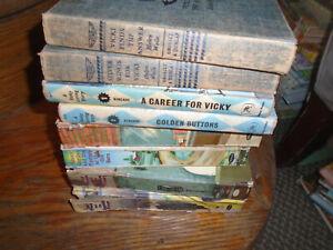 8 VIntage Books-Vicki Barr, Ginny Gordon/Polly French/Vicki Loring