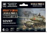 AV Vallejo Model Color Set - WWII Soviet Armour&Infantry VAL70202